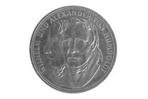 5 Mark, Wilhelm und Alexander Humboldt