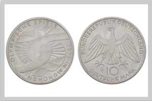 10 Mark, Verschlungene Arme Olympia
