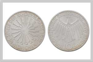 10 Mark, Strahlenspirale München