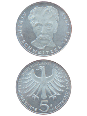 5 Mark, Albert Schweitzer