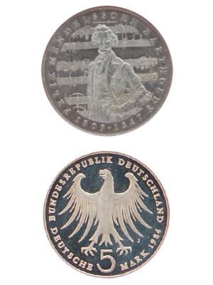 5 Mark, Felix Mendelssohn Bartholdy