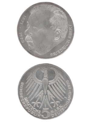 5 Mark, Friedrich Ebert