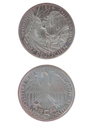 5 Mark, Gründung des Deutschen Zollvereins