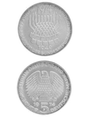 5 Mark, Grundgesetz der Bundesrepublik Deutschland