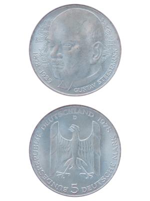 5 Mark, Gustav Stresemann