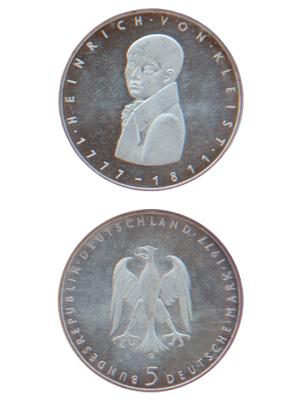 5 Mark, Heinrich von Kleist
