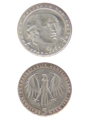 5 Mark, Johann Wolfgang von Goethe