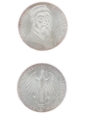 5 Mark, Johannes Gutenberg