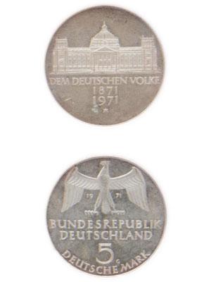 5 Mark, Reichsgründung