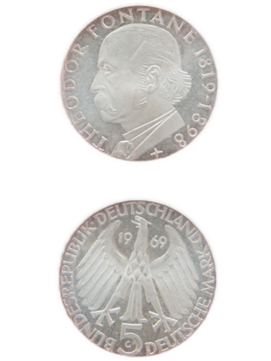 5 Mark, Theodor Fontane