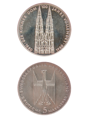 5 Mark, Vollendung des Kölner Doms