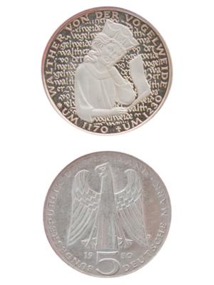 5 Mark, Walther von der Vogelweide