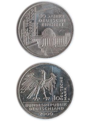 10 Mark, 10 Jahre Deutsche Einheit