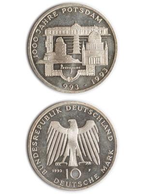 10 Mark, 1000 Jahre Potsdam