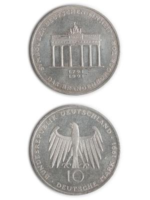 10 Mark, Brandenburger Tor