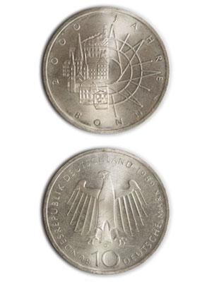 10 Mark, 2000 Jahre Bonn