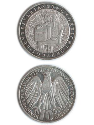 10 Mark, 50 Jahre Bundesverfassungsgericht