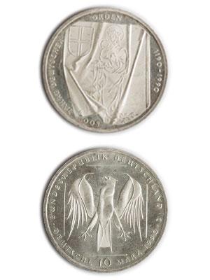 10 Mark, 800 Jahre Deutscher Orden