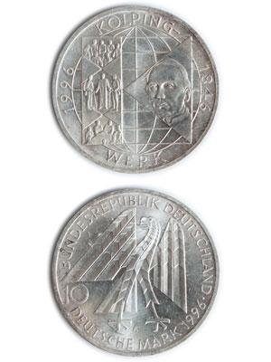 10 Mark, 150 Jahre Kolpingwerk