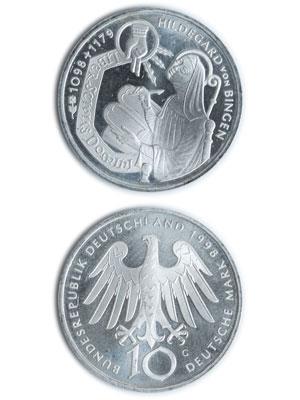 10 Mark, Hildegard von Bingen