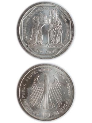 10 Mark, Karl der Große - Dom zu Aachen