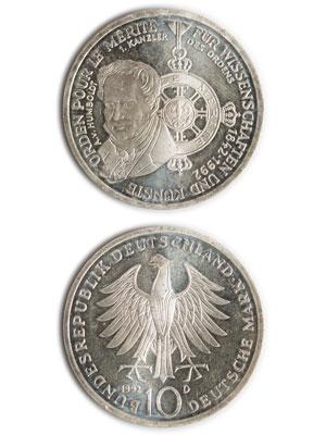 10 Mark, Pour le Mérite für Wissenschaft und Künste