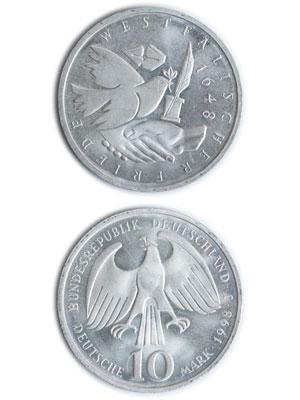 10 Mark, 350 Jahre Westfälischer Frieden
