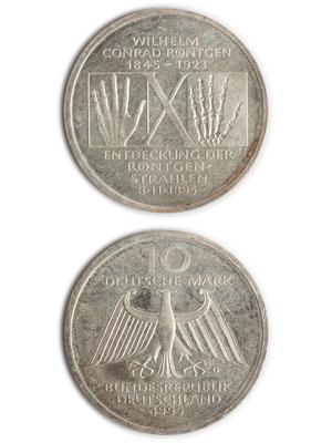 10 Mark, Wilhelm Conrad Röntgen